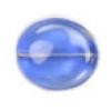 Glass Bead Flat 20/18mm Blue/Pink Wavy Oval - Strung